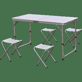 סט שולחן+4 כסאות . CAMP&GO