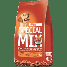 מיקס מזון יבש לכלבים שופרסל 12 ק