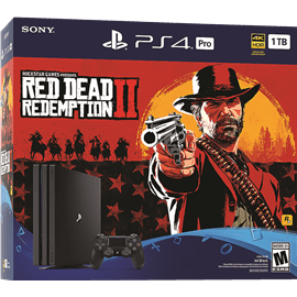 Ps4 pro 1TB + משחק  2RED DEAD SONY