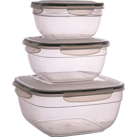 סט 3  קופסאות פלסטיק 1/1.7/4ליטר GALA HOME
