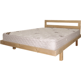 מיטה עץ אורן מלא+מזרן 140/190ס