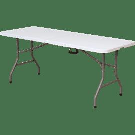 שולחן לבן מתקפל