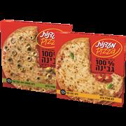 <!--begin:cleartext-->קנה 2 יחידות ממגוון פיצה משפ גבינה/זיתים/קמח מלא קבל את השני ב- 50% הנחה (הזול מביניהם)<!--end:cleartext-->