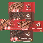 <!--begin:cleartext-->₪ קנה 5 יחידות ממגוון טבלאות שוקולד פרה 85-100 גרם במחיר 20<!--end:cleartext-->