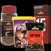 <!--begin:cleartext-->קנה 3 יחידות ממגוון מגוון מוצרי קפה נמס/טורקי/שוקולית/קפסולו, קבל יחידה נוספת במתנה (הזול מביניהם)<!--end:cleartext-->