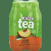 ספרינג תה אפרסק 4 * 500 מ