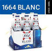 <!--begin:cleartext-->₪ קנה בירה 1664 בלאנק 6 * 330 מ''ל במחיר 41.90 ₪ במקום 49.90<!--end:cleartext-->