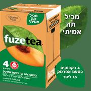 פיוז טי תה קר אפרסק מארז פיוז תה 4 * 1.5