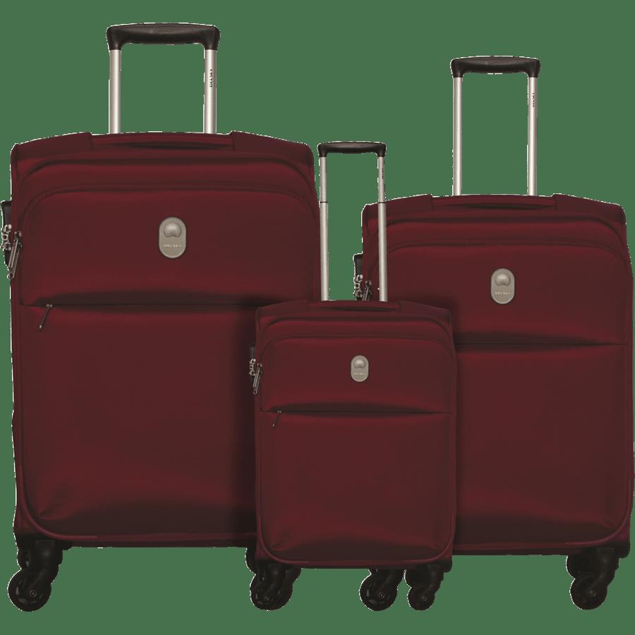 שלישית  מזוודות בד אדום