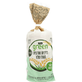 פריכיות אורז מלא גרין