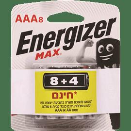 סוללות אנרג'ייזר AAA