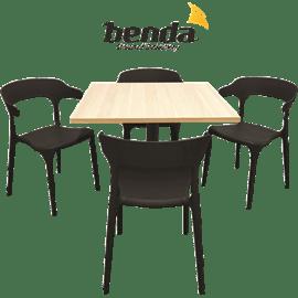 סט 4 כסאות דקורטיבי