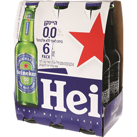 בירה הייניקן 0% אלכוהול