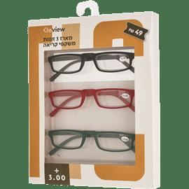 משקפי קריאה 3.00+