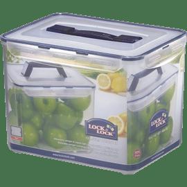 קופסת אחסון פלסטיק+ידית