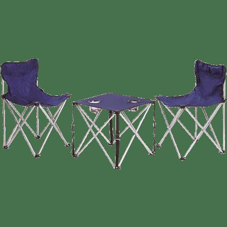 סט שולחן+2 כסאות מתקפלים