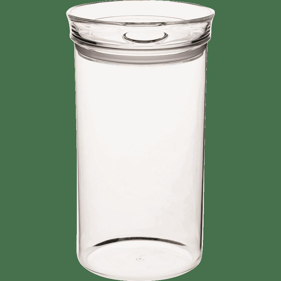 צנצנת אקריל עגולה
