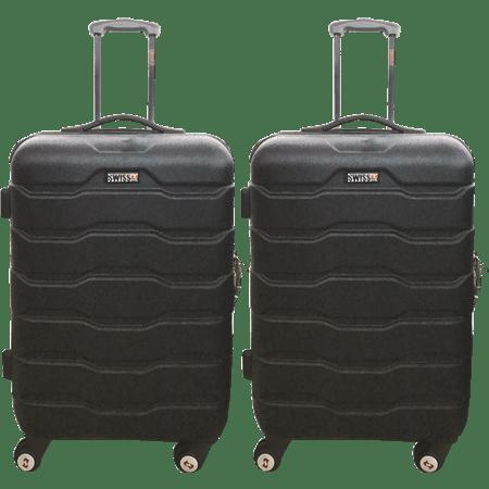 סט זוג מזוודות טרולי