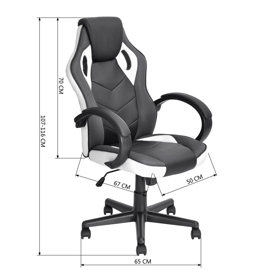 כסא סופר גיימר לבן