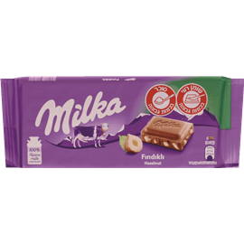 שוקולד חלב אגוזים מילקה