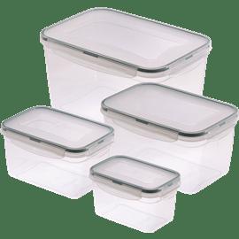 סט 4 קופסאות פלסטיק