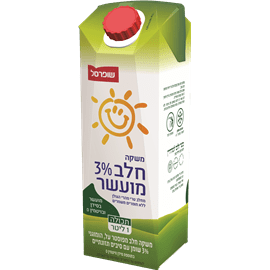 משקה חלב מועשר 3% שומן