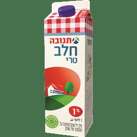 חלב מפוסטר 1% בקרטון