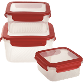 סט3 קופסאות פלסטיק מרובע