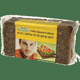 לחם שיפון שלושת דגנים