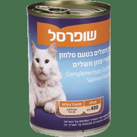 מזון חתולים בטעם סלמון