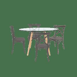 סט שולחן דה וינצ'י+ 4 כס