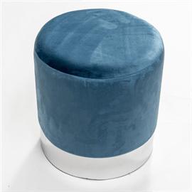 הדום קטיפה עגול כחול