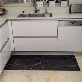 שטיח PVC למטבח - שיש שחו