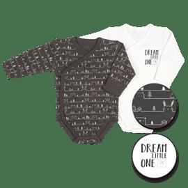 בגדי גוף מעטפת שחור0-3