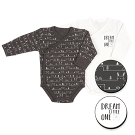 בגדי גוף מעטפת שחור3-6