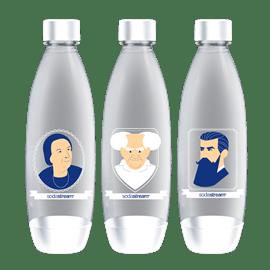 שלישיית בקבוקי הגזה רגיל