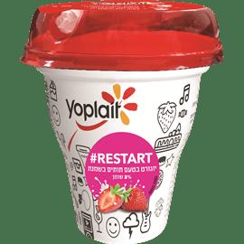 יוגורט תותים ושמנת+קש2%