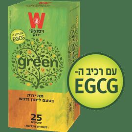 תה ירוק לימון ודבש