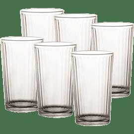 סט כוסות שופ גבוה חלק