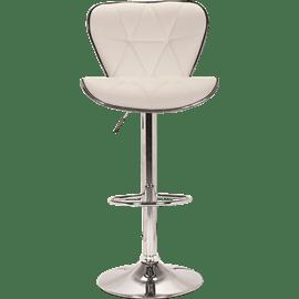 כיסא בר דגם רוז - לבן