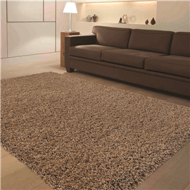 שטיח קוויבק שאגי חום
