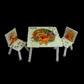 סט שולחן+2 כסאות הדב