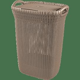 סל כביסה סרוג חום