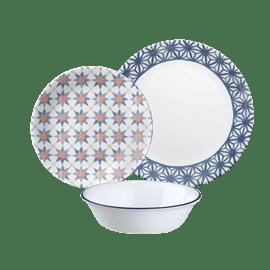 סט 12 חלקים  Amalfi Azul