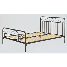 מיטת מתכת מעוצבת זוגית
