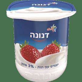 דנונה תות 3% שומן