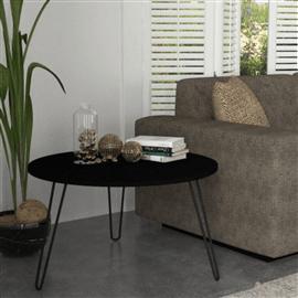 שולחן סלון שחור עם רגלי