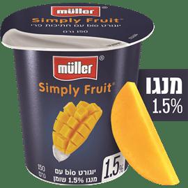 יוגורט סימפלי מנגו 1.5%