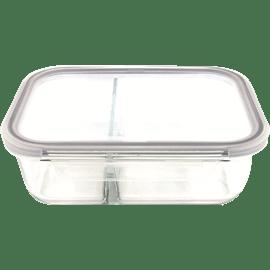 קופסת אחסון זכוכית מחולק