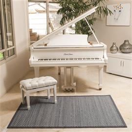 שטיח במבוק קלוע אפור